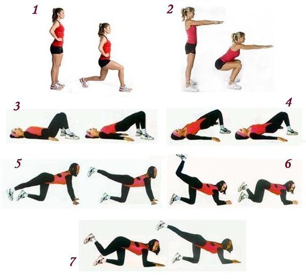 7 упражнений для красивой попы