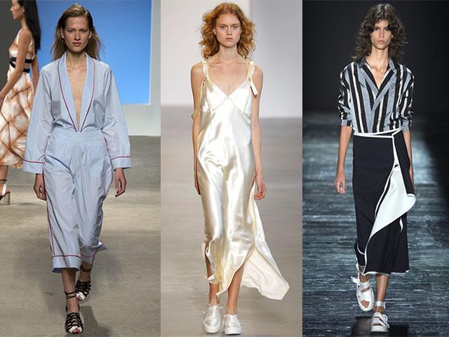 Пижамный стиль платье