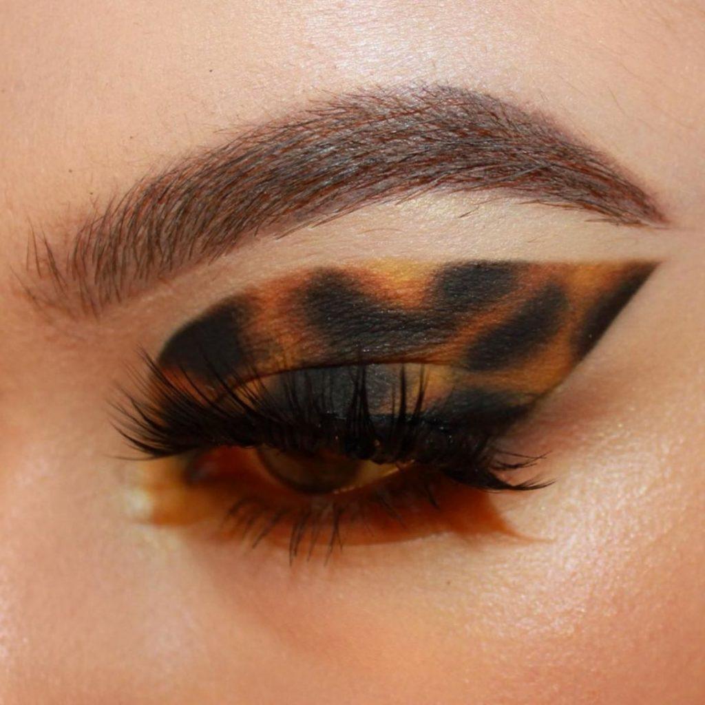 Черепаший макияж темный