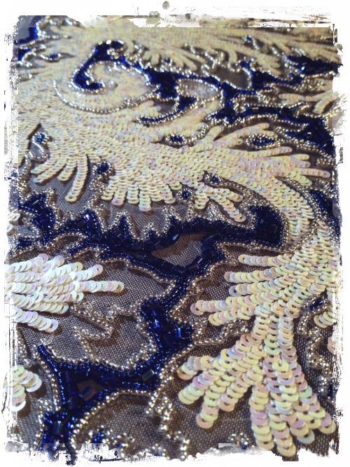 Люневильская вышивка на сетке