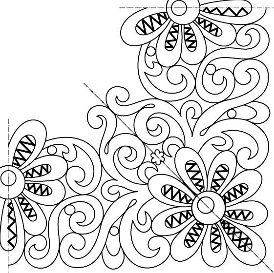 Узор для люневильской вышивки