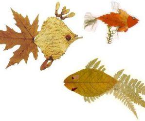 Поделки из сушеных листьев