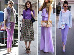 С какими цветами сочетается фиолетовый цвет в одежде
