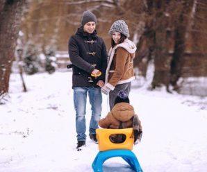 Прогулка зимой с ребенком – это подарок его здоровью