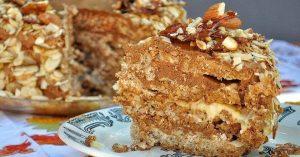 Рецепт выпечки орехового торта