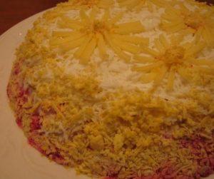 Селедка под шубой с сыром