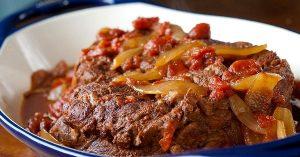 Пряная говядина с помидорами