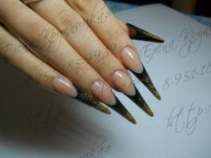 Мастер-класс: наращивание ногтей по форме стилет