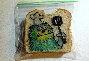 Рисунки на пакетах для бутербродов