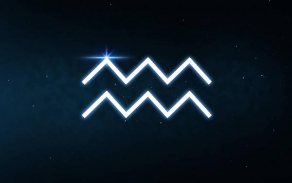 Символ Водолея— две волнистые линии
