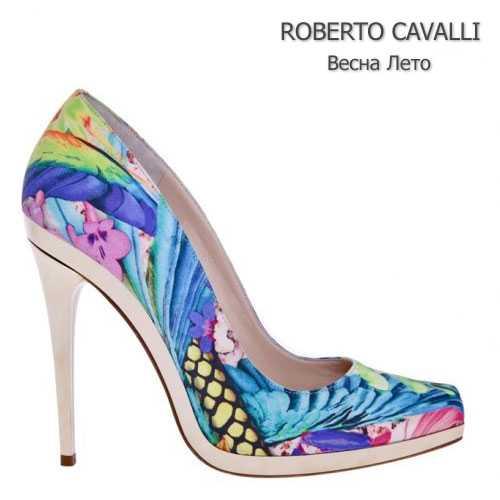 Цветастые лодочки Roberto Cavalli