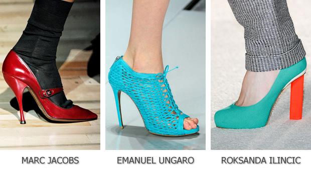 Яркая модная обувь