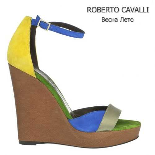 Колор блокинг в обуви Roberto Cavalli весна