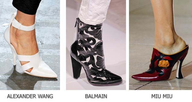 Модный острый носок в обуви