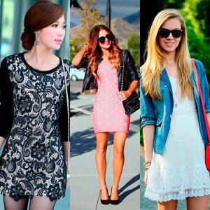 С чем носить кружевное платье: мода 2022