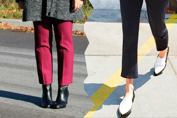С какой обувью носить брюки: фактура ткани