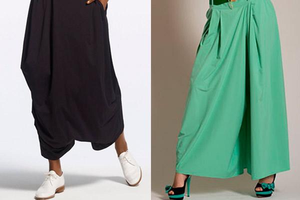 С какой обувью носить юбку-брюки