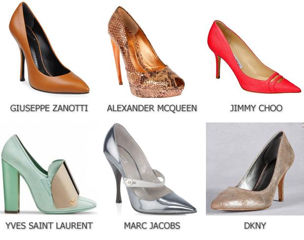 Модные туфли с острым носом